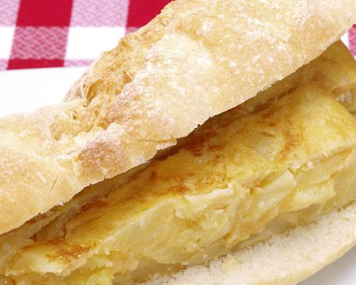 Potato omelette sandwich